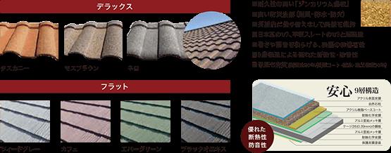 耐久性の高い「ジンカリウム鋼板」を使用。9層構造による優れた断熱性・防音性を持ち、保証も充実。
