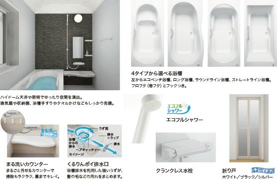 LIXIL Arise 丸洗いカウンター / くるりんポイ排水口 / エコフルシャワー / クランクレス水栓 / 折り戸